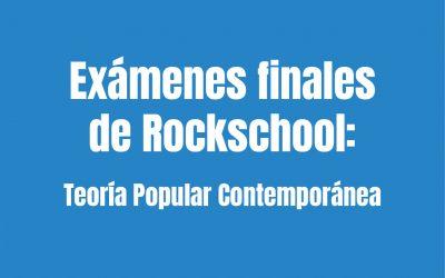 Exámenes finales de Rockschool 21/07